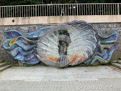 Sculpture on the promenade of Svetlogorsk Stock Photo