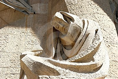 Sculpture on Sagrada Familia