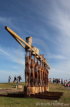 Sculpture by the sea exhibition, Bondi, Australia Editorial Stock Image
