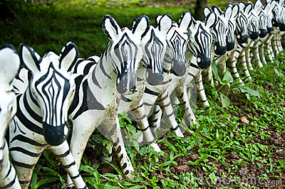 Sculpture of zebra