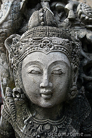 Sculptured beauty closeup