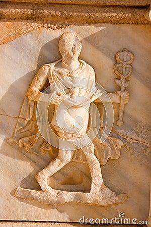 Sculptured frieze with one man, Sabratah - Libya