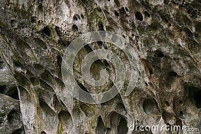 Sculptured rock