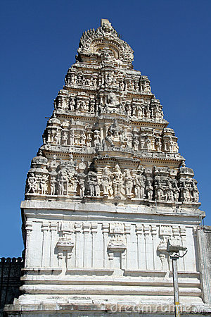 Sculptured Temple Tower