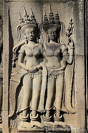 Sculptures at Angkor Wat