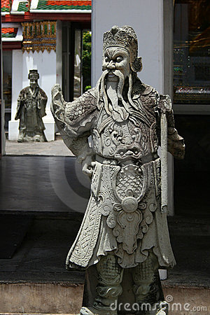 Sculptures of chinese warriors