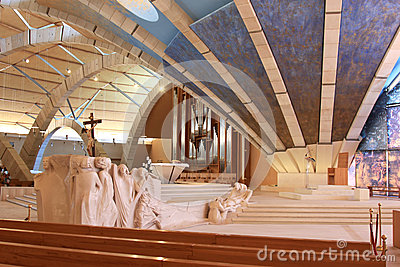 Sculptures in Padre Pio Pilgrimage Church, Italy Editorial Image