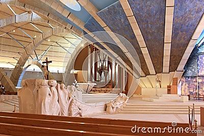 Sculptures in Padre Pio Pilgrimage Church, Italy Editorial Image