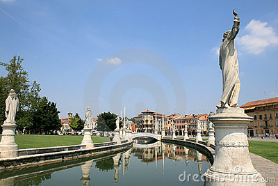 Sculptures at Prato della Valle in Padua, Italy