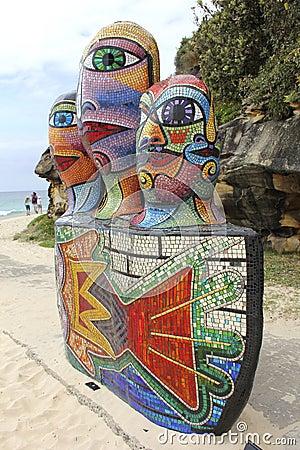 Sculptures by the sea, Bondi, Australia Editorial Image