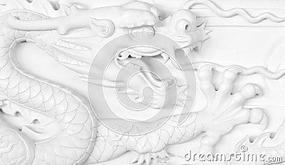 Scultura cinese del drago