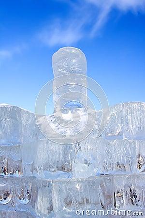 Scultura ghiacciata