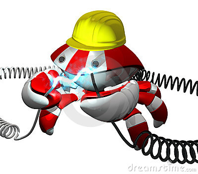 Scutter Crab Robot Repairing Power Cable