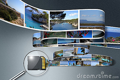 SD card saving Holiday Photos