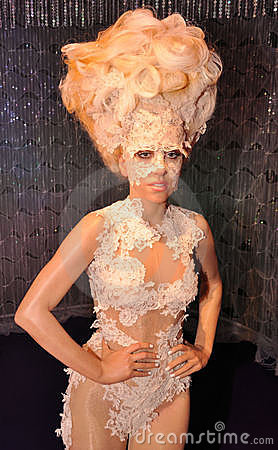 Señora Gaga Imagen de archivo editorial