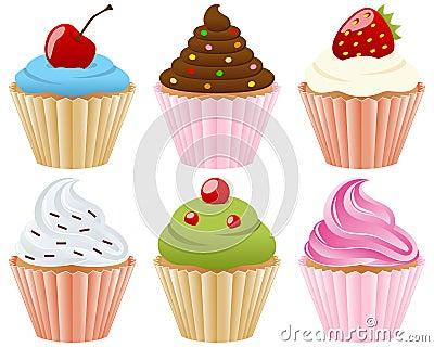 Süße Kuchen-Ansammlung