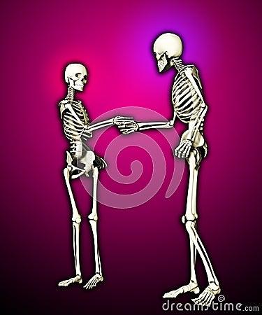 Se réunir de squelettes