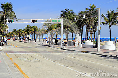SE 5th St at SR A1A Editorial Photography