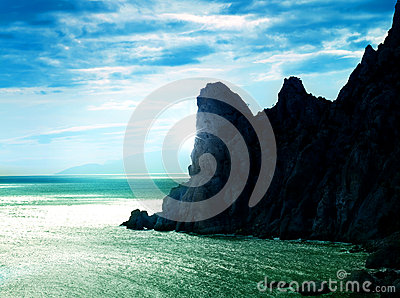 Sea abstract landscape