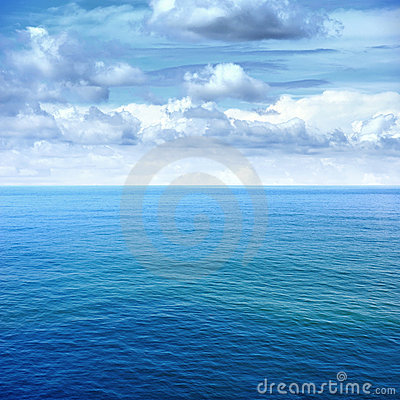 Free Sea And Blue Sky Royalty Free Stock Image - 20455806