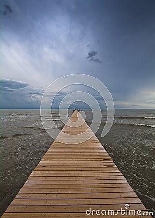 Free Sea And Incoming Storm At Horizon Stock Photos - 16193293