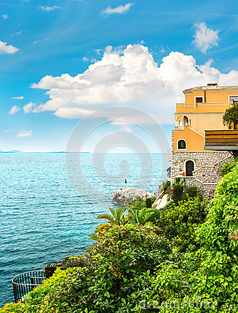 Free Sea And Sky. Beautiful Mediterranean Landscape, French Riviera Royalty Free Stock Image - 57349816