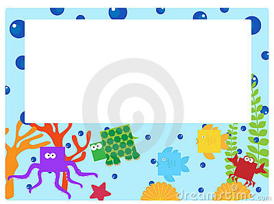 Sea animal border