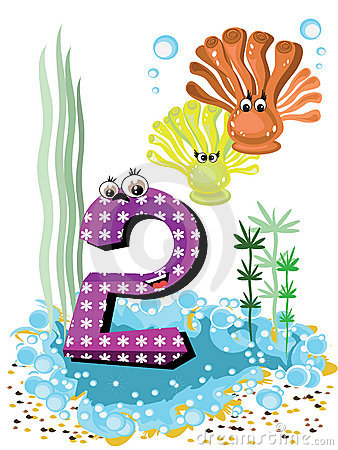 Sea animals and numbers series for kids 2 coralls