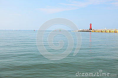 Sea baltic lighthouse in Gdansk, Poland