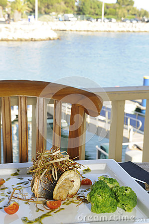 Free Sea Bass Fish With Tomato Migas - Healthy Food Stock Photo - 31662610