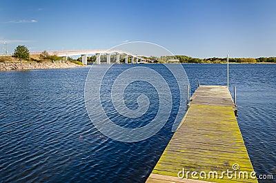 Sea bay Swedish landscape