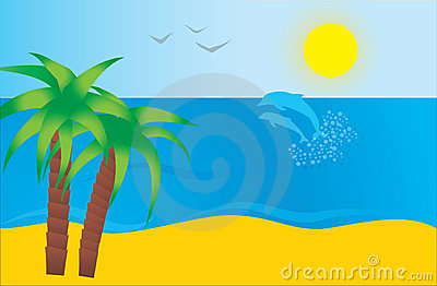 Sea And Beach Stock Image - Image: 14383241