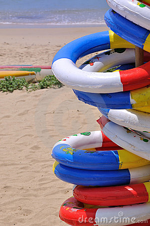 Sea beach holiday life buoy