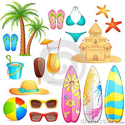 Sea Beach Object Vector Illustration