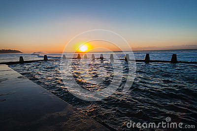 Sea Beach Tidal Pool Waves Sunrise