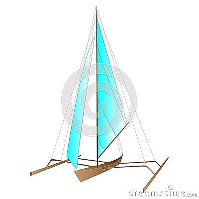 Sea boat vector Vector Illustration