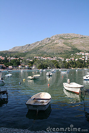Sea and boats in Croatia