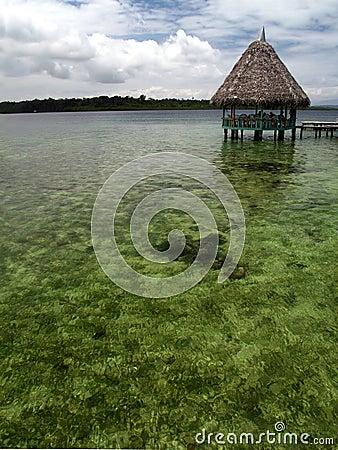 Sea cabin at caribbean coast