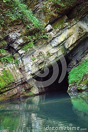 Sea cave entrance
