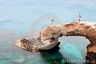 Sea caves , Ayia Napa Cape Greco Cyprus Editorial Photo