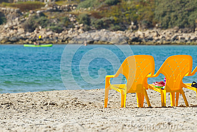 Sea and chairs