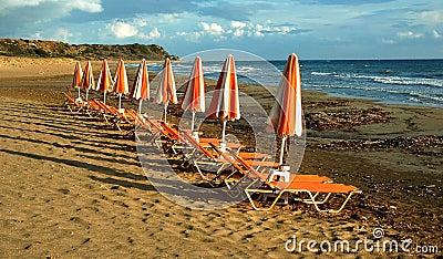 Sea chairs on the beach