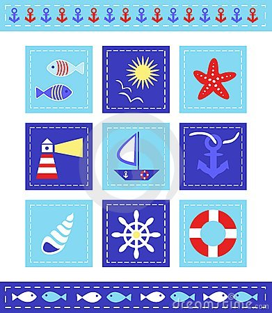 Sea cild scrapbook elements