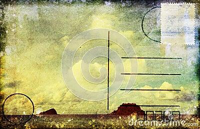 Sea and cloud postcard