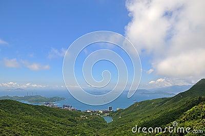 Sea coast landscape in Hongkong