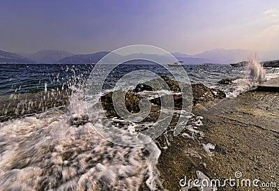 Sea coast of Montenegro, Adriatic sea
