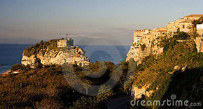 Sea coast in Tropea Italy