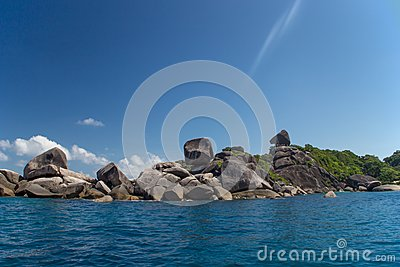 Sea coastal landscape