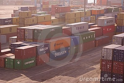 Sea Containers in Aquaba Editorial Photography