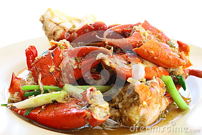 Sea crab fried with tamarind sauce